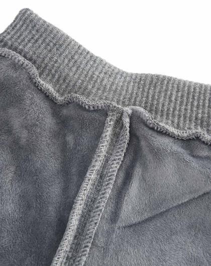 多多马冬季女童加绒灰色打底裤
