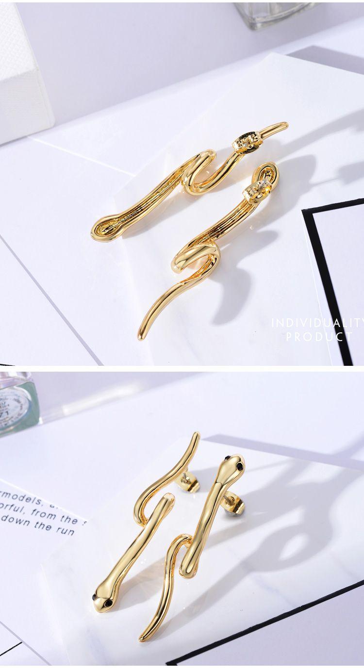 威妮华 欧美时尚个性金蛇传说耳环