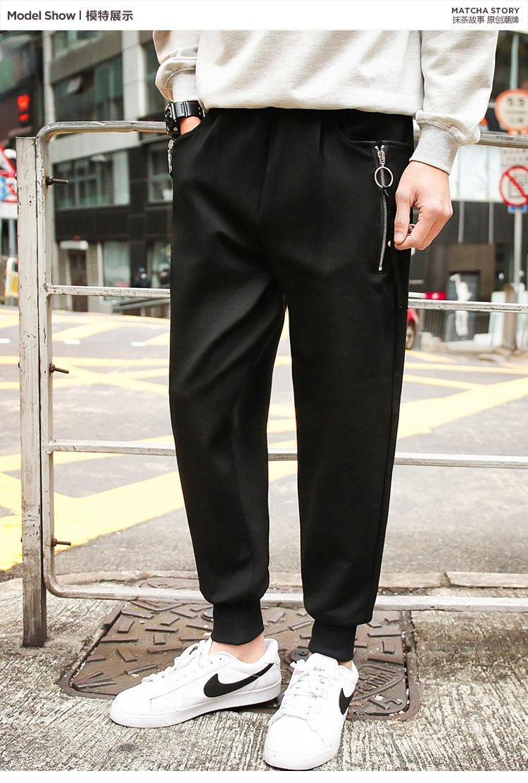 男士休闲针织长裤