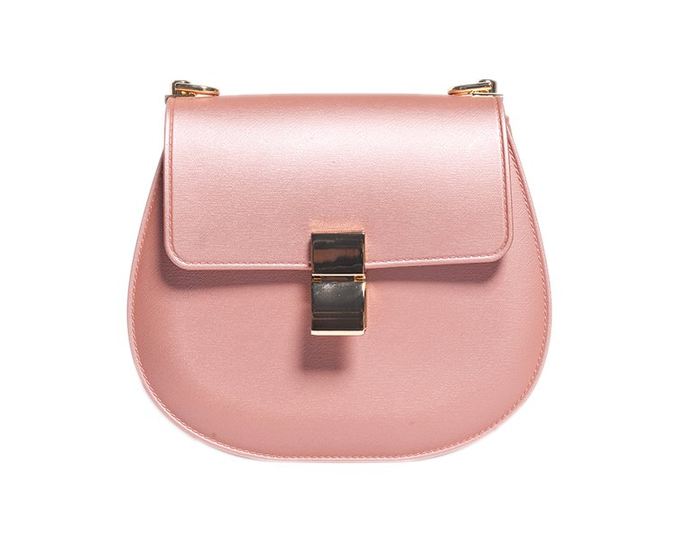 2017新款链条包 可爱纯色铆钉小猪包焦糖色