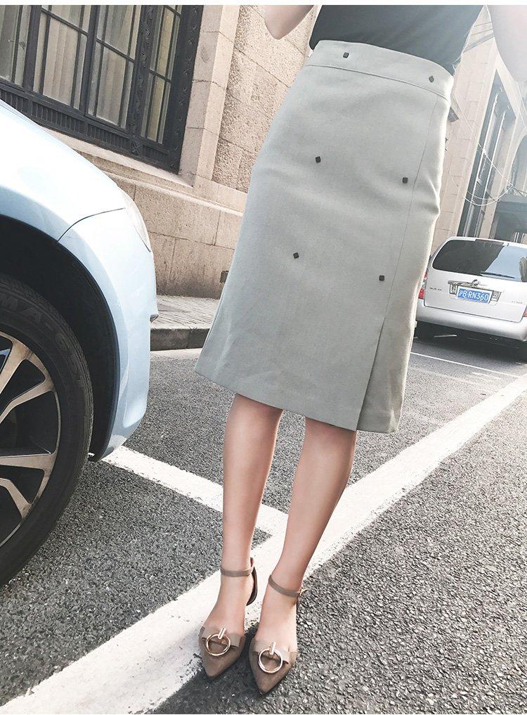 一步裙包臀半身裙短裙绿色