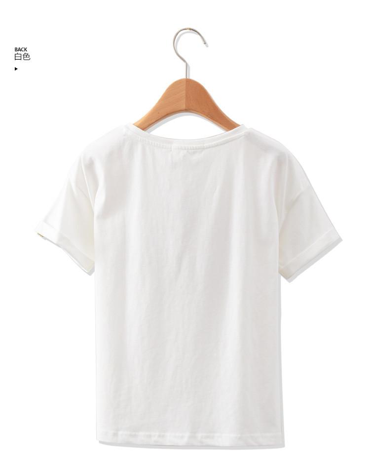 中性儿童太空人印花短袖t恤白色图片