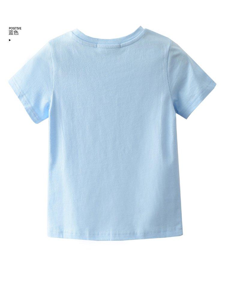 可爱闪电印花中性儿童短袖t恤