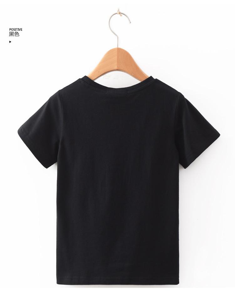 中性儿童涂鸦印花短袖t恤