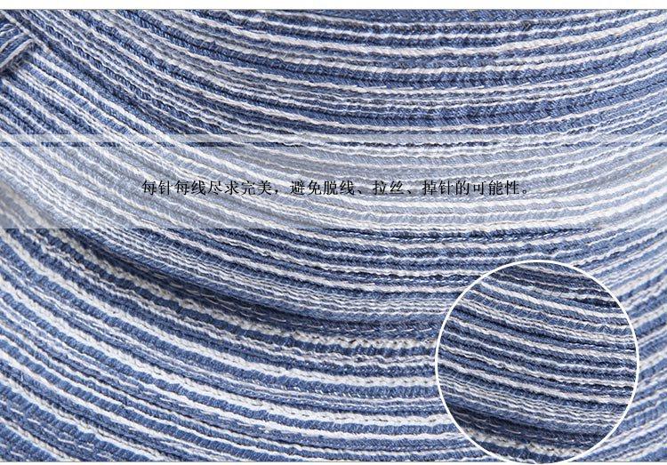 手工编织蝴蝶结卷边可折叠户外遮阳草帽蓝色