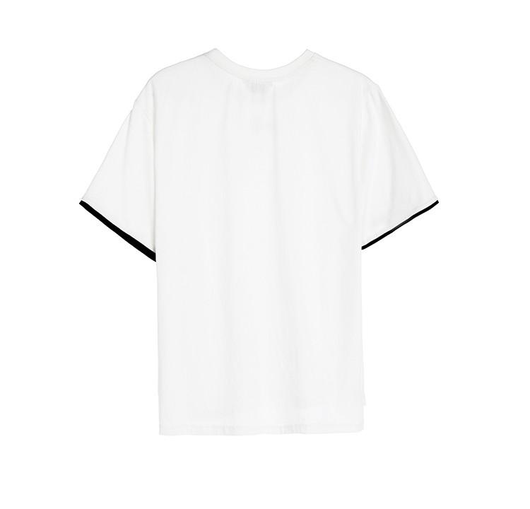 袖口撞色套头t恤           每一件lilbetter,都有一处让你难忘的设计