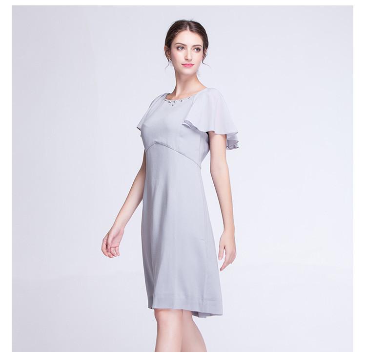 袖时尚_荷花袖时尚连衣裙