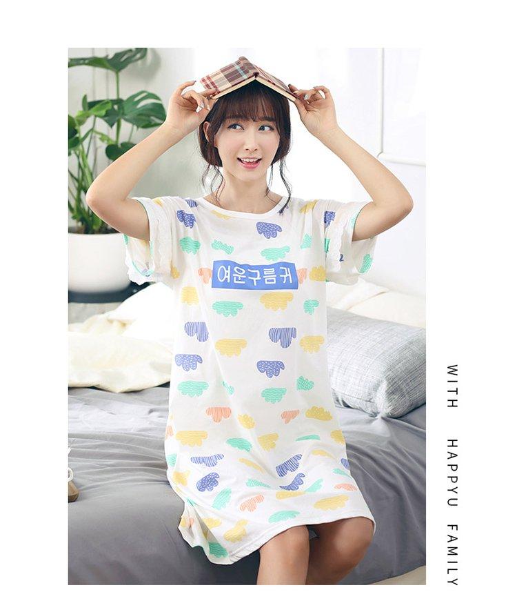 亲子装手绘彩云妈妈款夏季睡衣套装