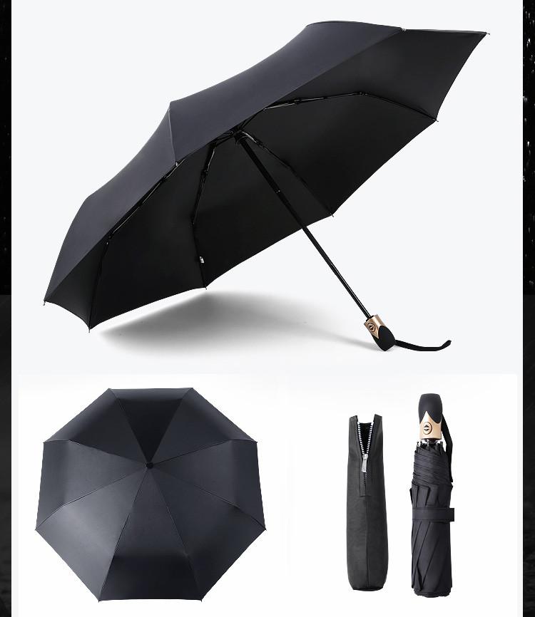 开��y�n�oe_三折自动开收黑胶商务雨伞