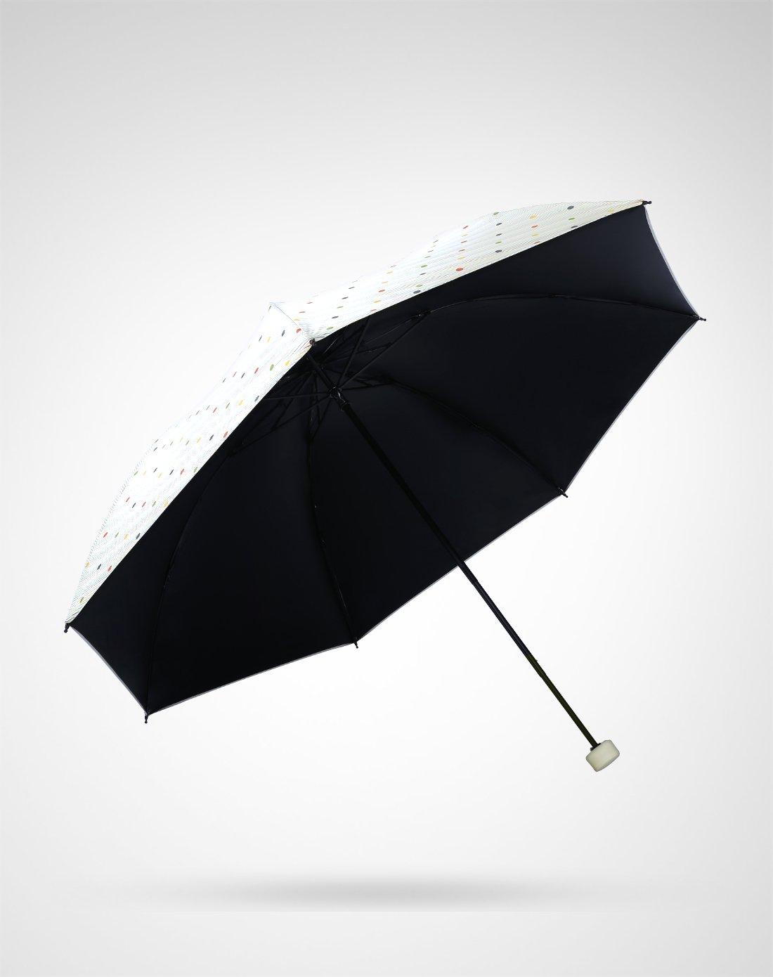 小清新简约森系雨伞女韩四折伞黑胶防晒遮阳晴雨两用伞
