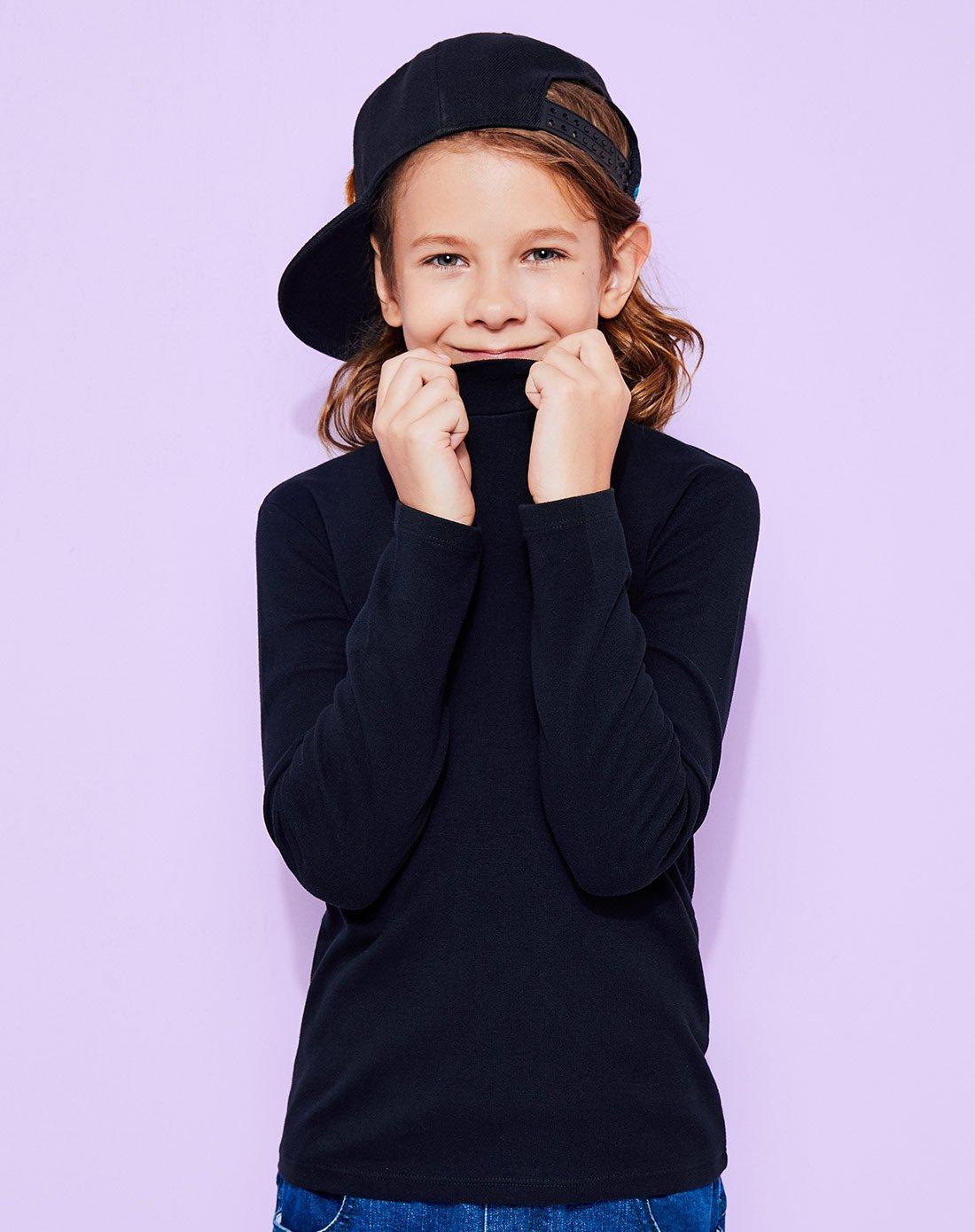 安奈儿安奈儿童装中性童打底衫长袖保暖内搭衫AM1900K01