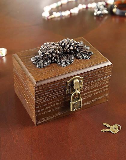 创意美式橡果系列首饰盒图片