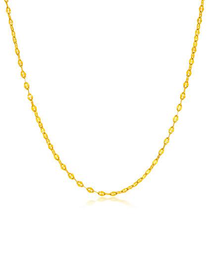 赛菲尔 嘴唇款18k金黄色项链