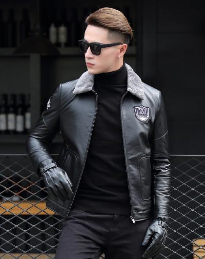 基本系列 全身印花短款夹克外套