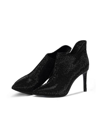 1折 369 1199 森林公主牛猄欧美时尚超高跟水台性感系带短靴