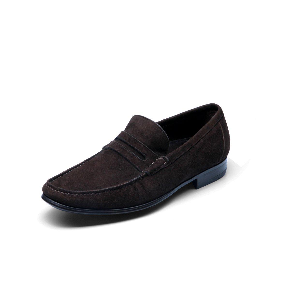 巴路士新品袋鼠皮一脚蹬简约商务鞋BI0210