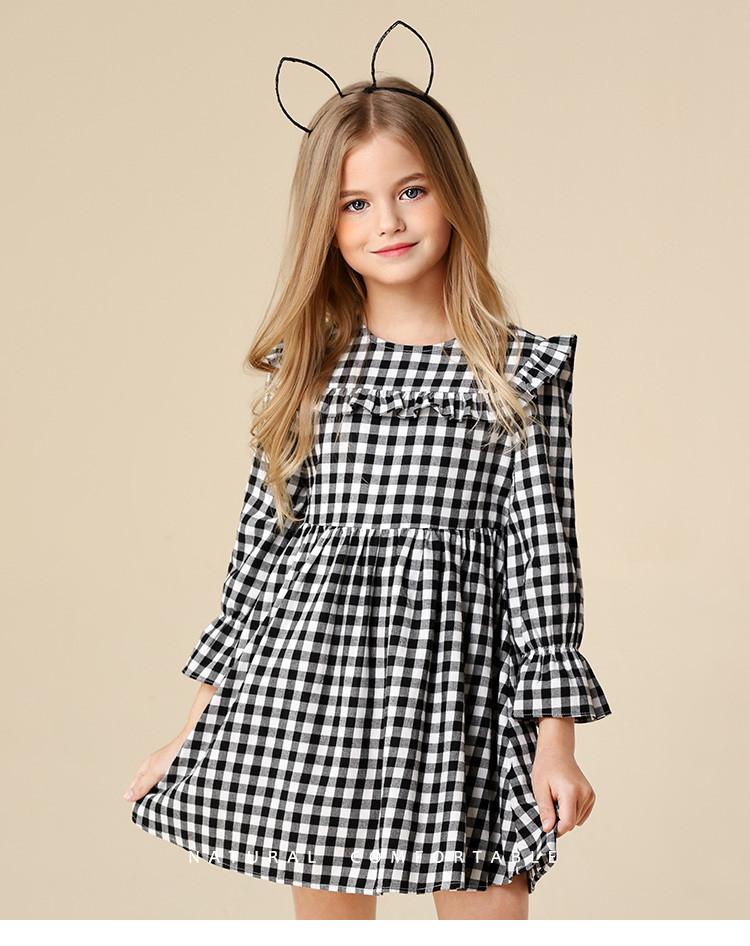 安奈儿童装女童长袖连衣裙