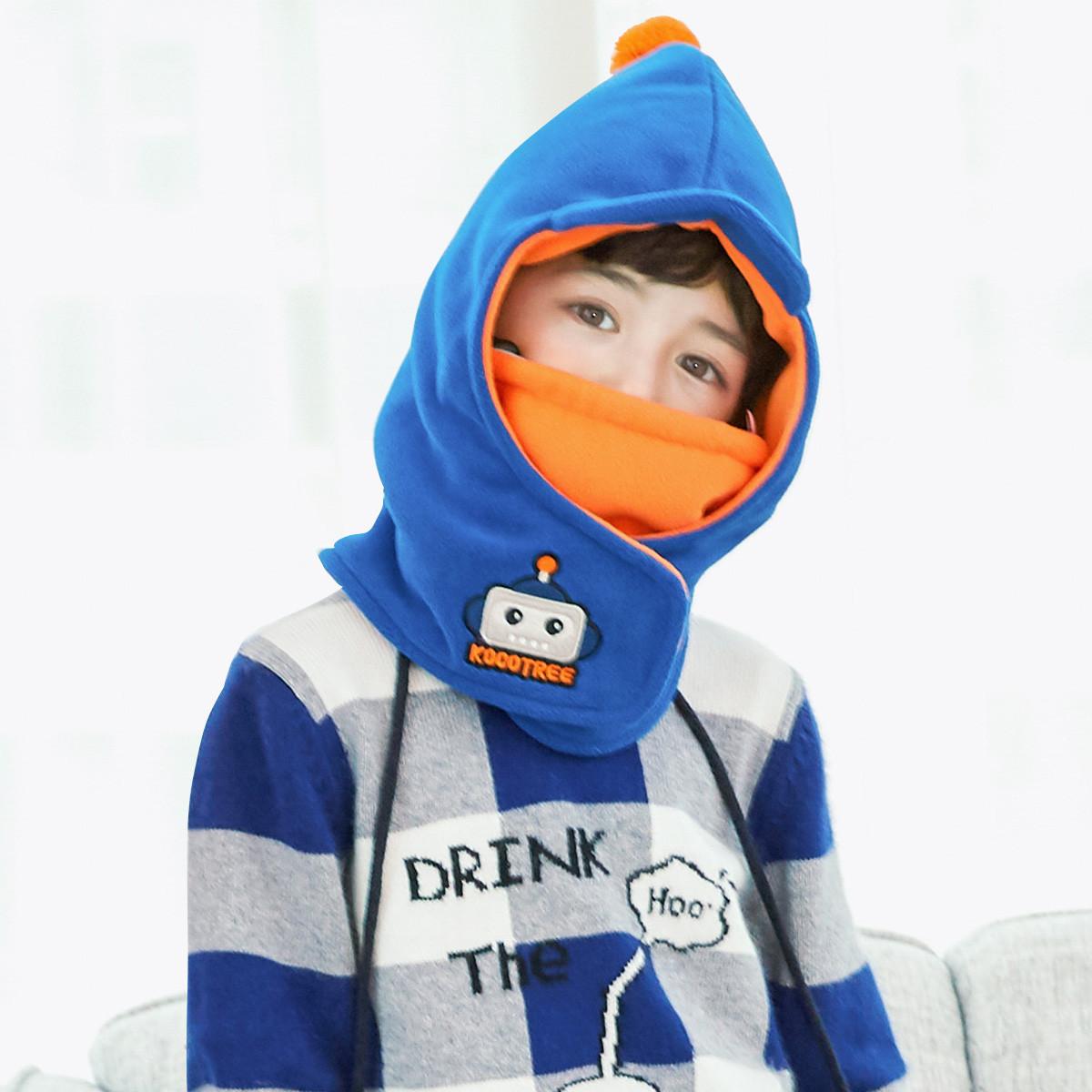 kocotreekocotree 秋冬新款儿童帽子男童女童口罩围脖护耳一体宝宝帽子保暖套头帽KQ18074100