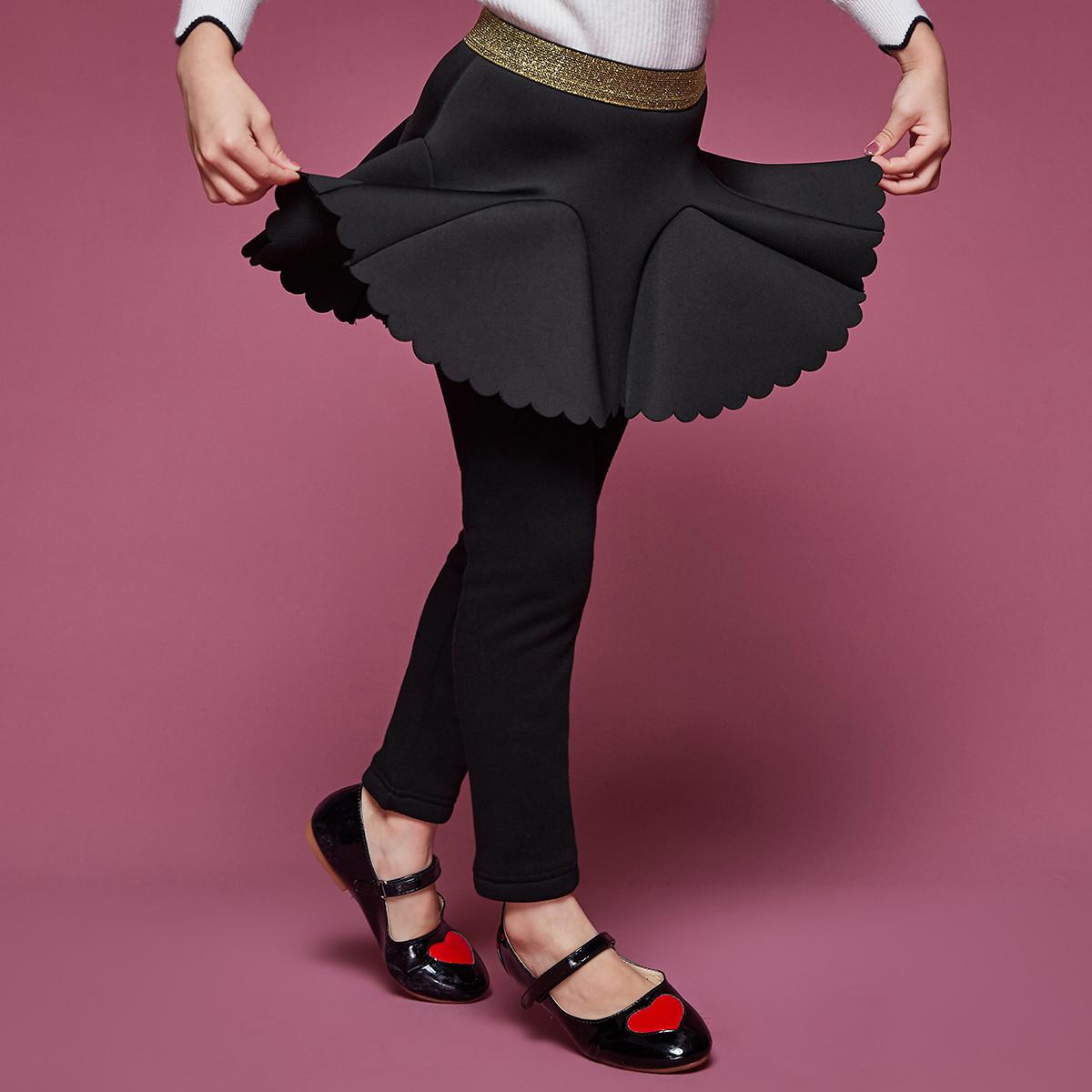 笛莎笛莎Deesha冬季新款童装女孩裙裤女童加绒打底裙裤91184012270