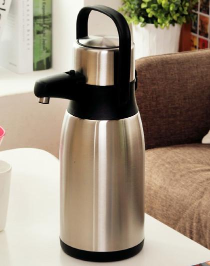 3升大容量企鹅款手按式气压保温瓶保暖水壶 热水保温壶