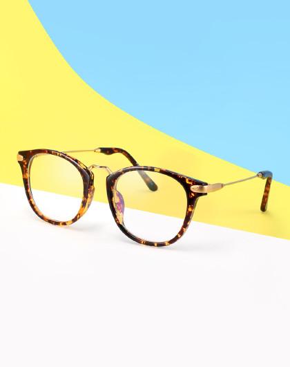 帕森时尚复古轻盈tr眼镜框女 简约圆框眼镜潮流男女光学眼镜架
