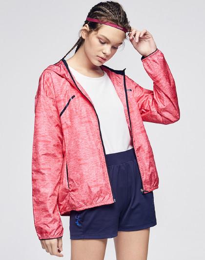 花花公子 2019春季新款韩版时尚风衣外套运动女装拉链外套女装