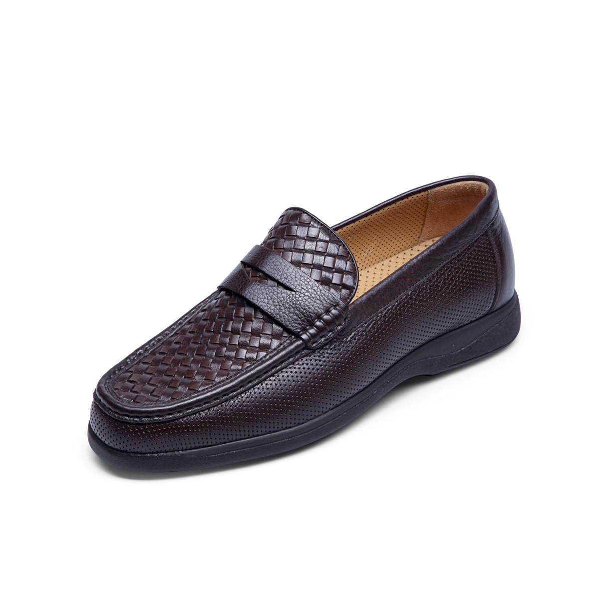 巴路士巴路士透气懒人鞋防滑驾车鞋舒适套脚鞋男士皮鞋男鞋BC41W1085K02