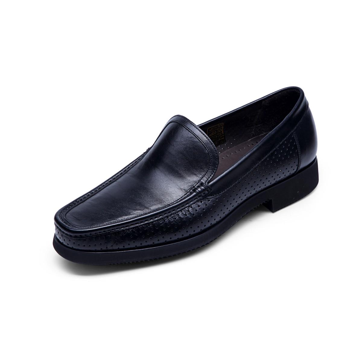 巴路士巴路士纯手工马克线一脚蹬套脚商务鞋男士正装皮鞋经典英伦男鞋BC41Y1010K01