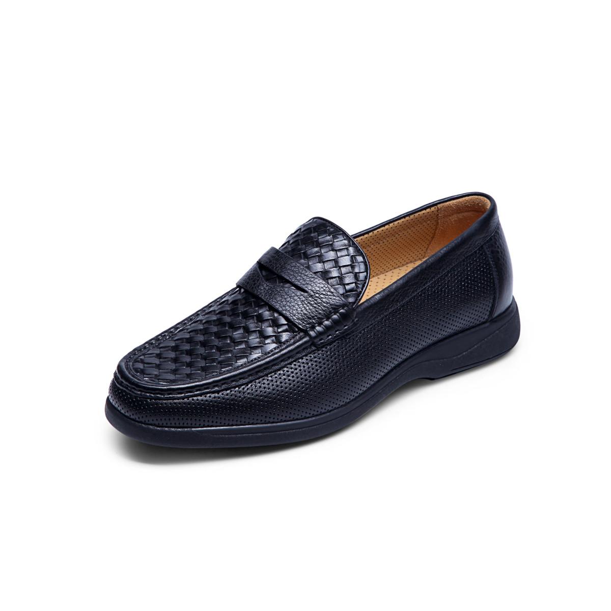 巴路士巴路士透气懒人鞋防滑驾车鞋舒适套脚鞋男士皮鞋男鞋BC41W1084K01