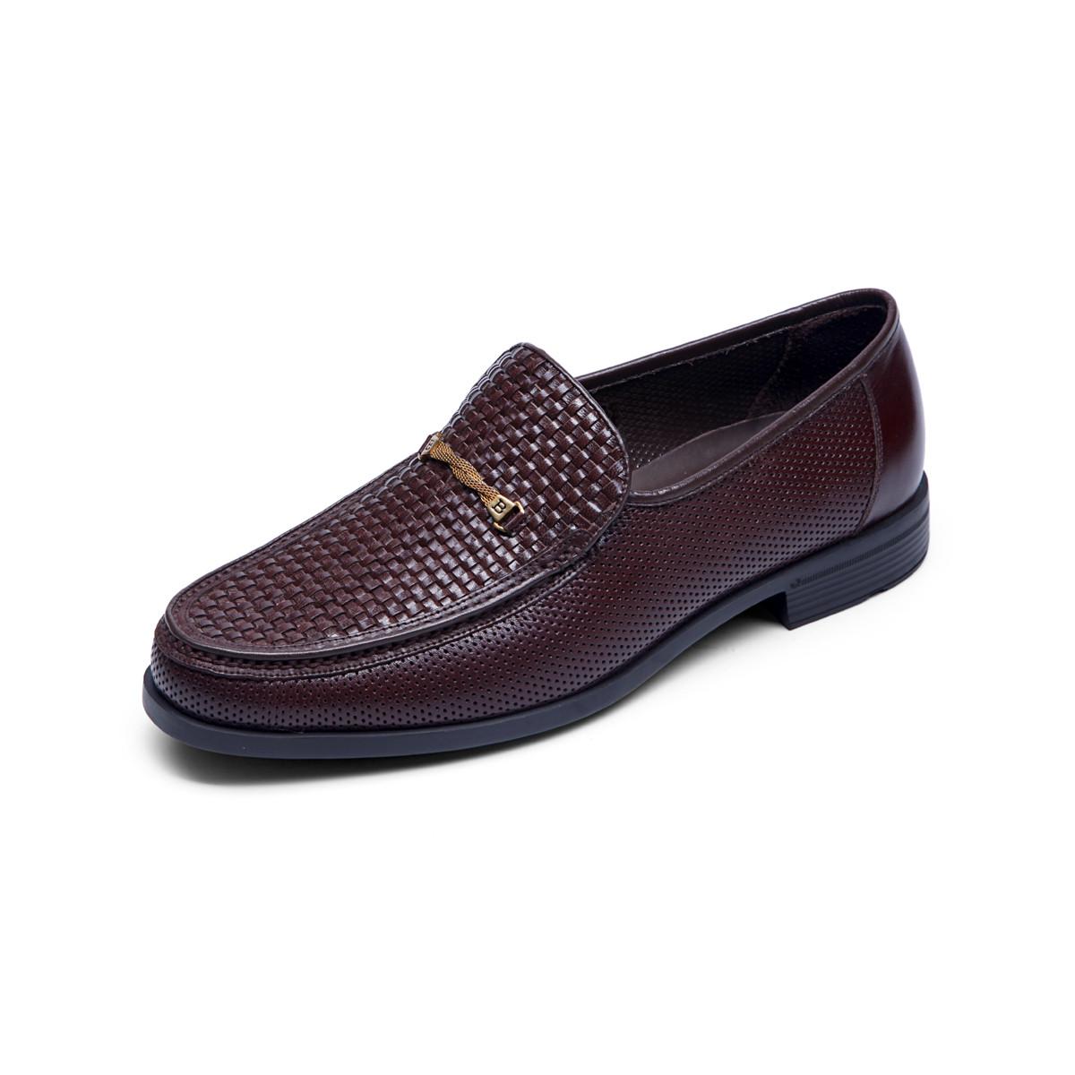 巴路士巴路士耐磨一脚蹬套脚商务鞋简约男士正装皮鞋舒适男鞋BC51Y1035K02