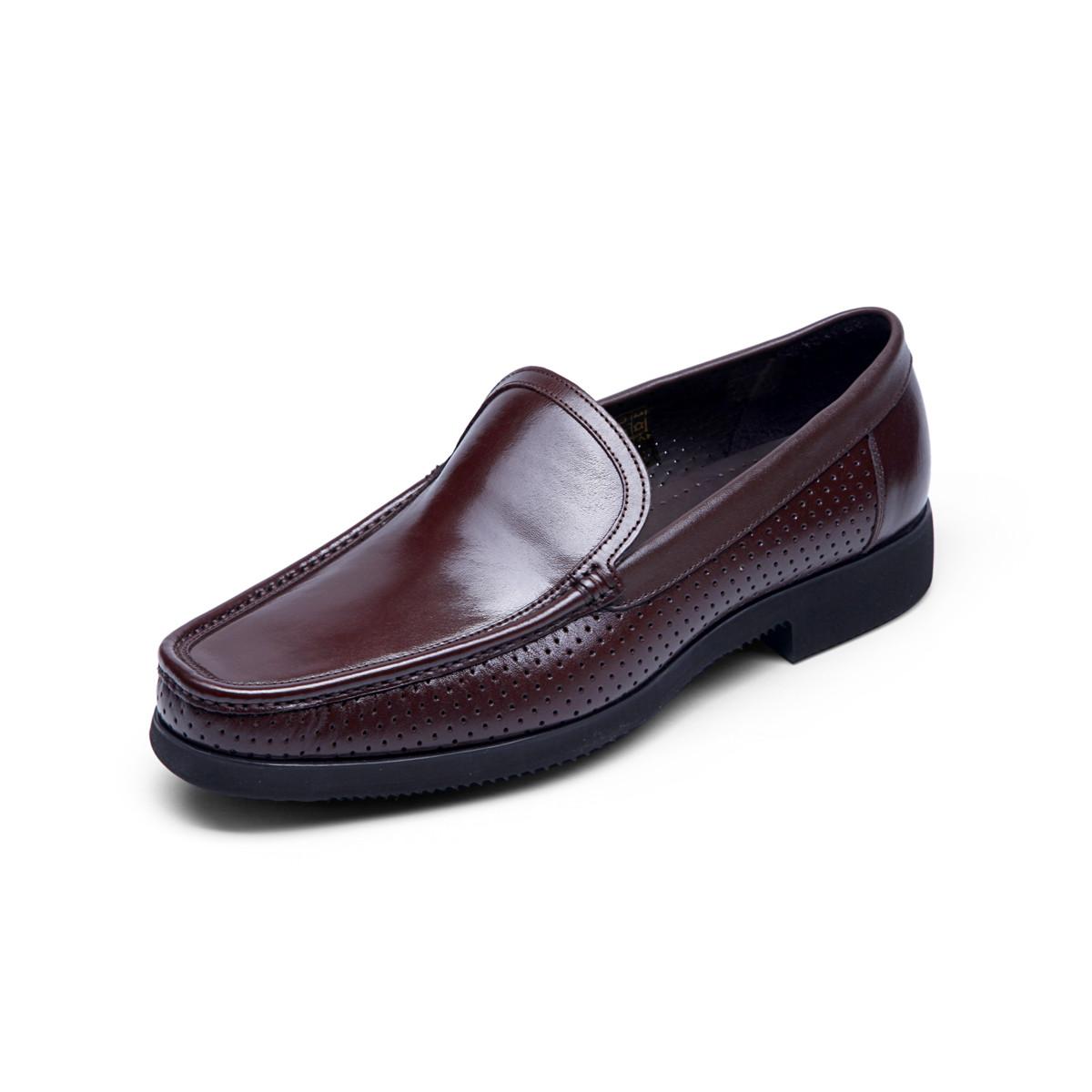 巴路士巴路士纯手工马克线一脚蹬套脚商务鞋男士正装皮鞋经典英伦男鞋BC41Y1011K02