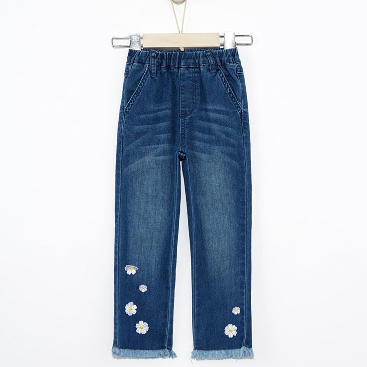 Moomoo女中童修身时尚牛仔裤79788640