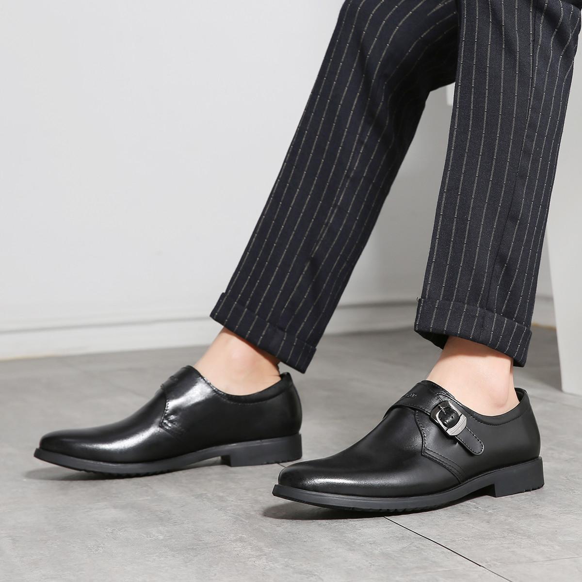 凯撒凯撒2019新品男士皮鞋商务男鞋皮套脚正装男鞋婚礼鞋男153950-71001