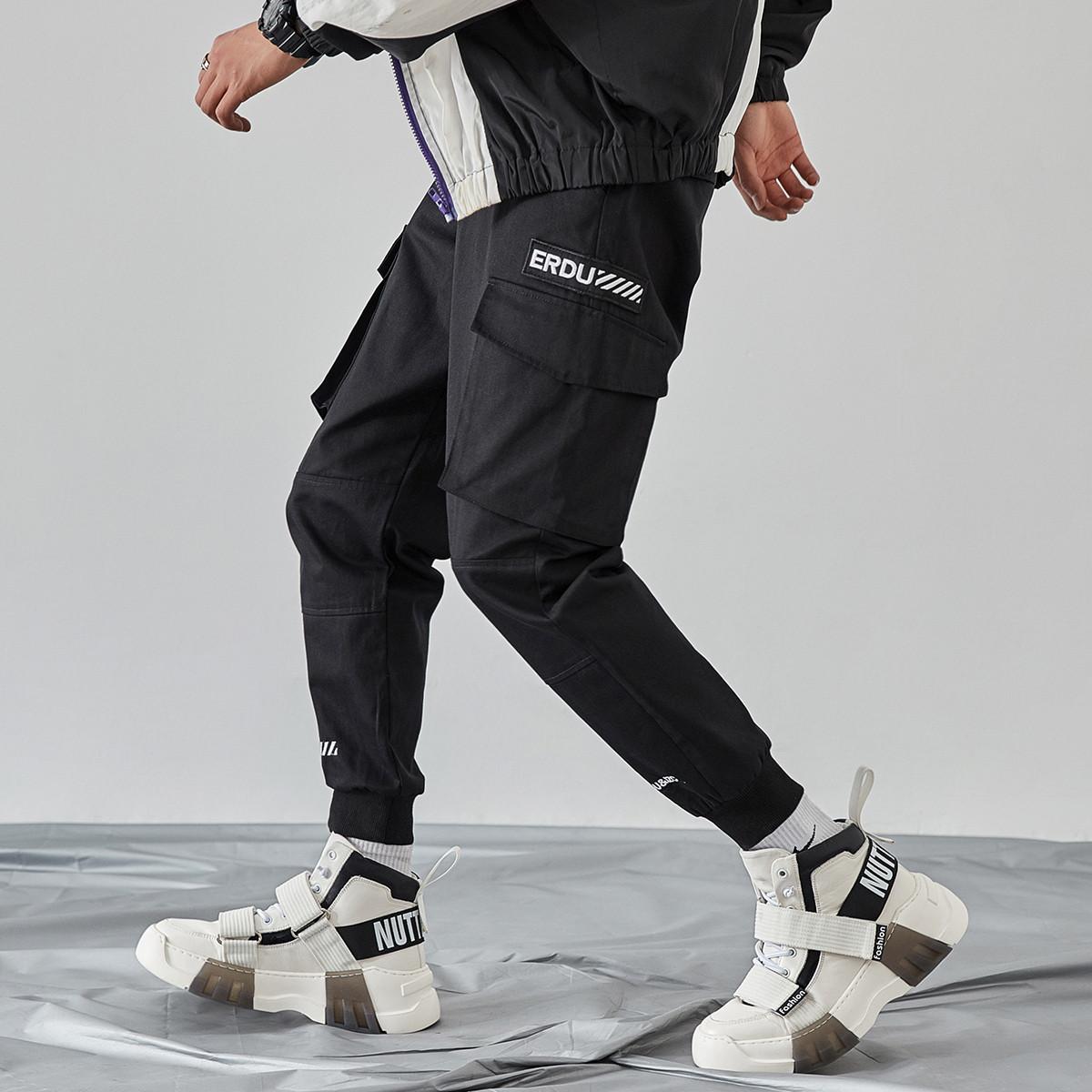 RAMPAGE美国潮牌裤子嘻哈伦裤小脚休闲裤男宽松多袋工装裤潮束脚裤RQ1171201