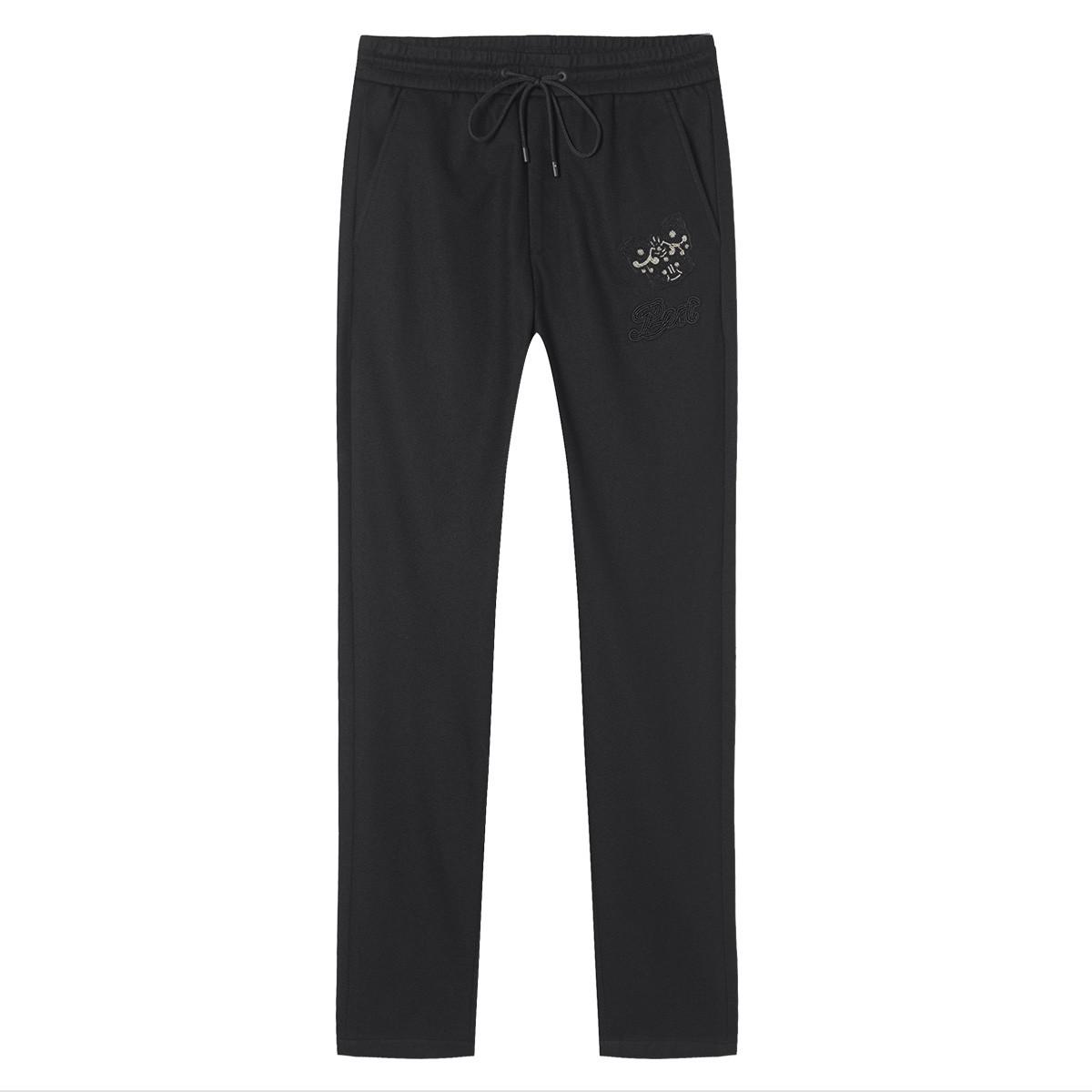 DEGAIA男士时尚串珠绣花直筒运动裤DU1723511501