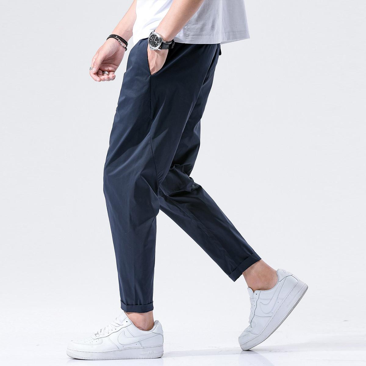 KM KILO KMMETERS2019夏季新品时尚休闲简约薄款舒适男式休闲裤K648J33081458