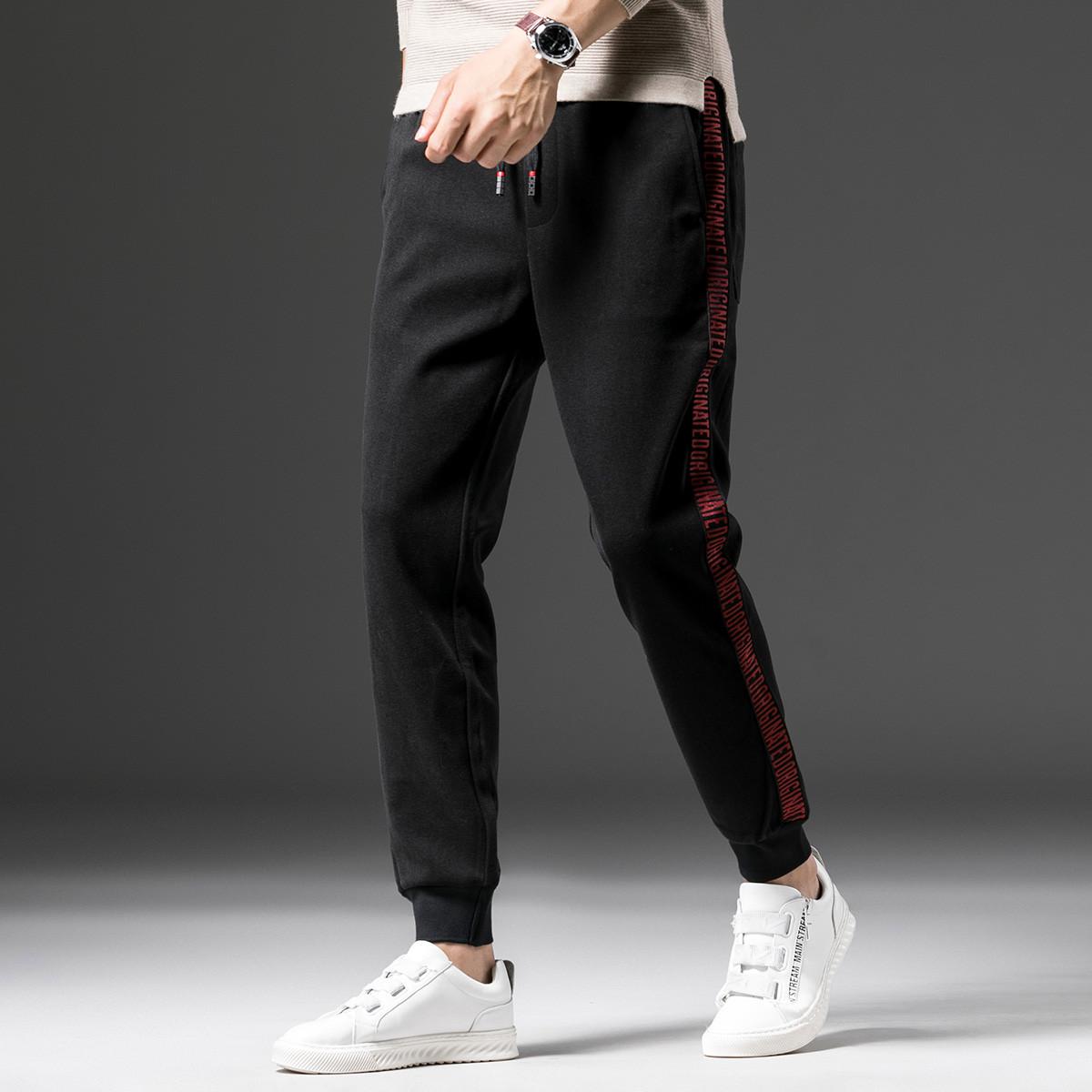KM KILO KMMETERS2019冬季新品小脚裤男时尚休闲简约舒适长裤男士休闲裤M4XK203360X2
