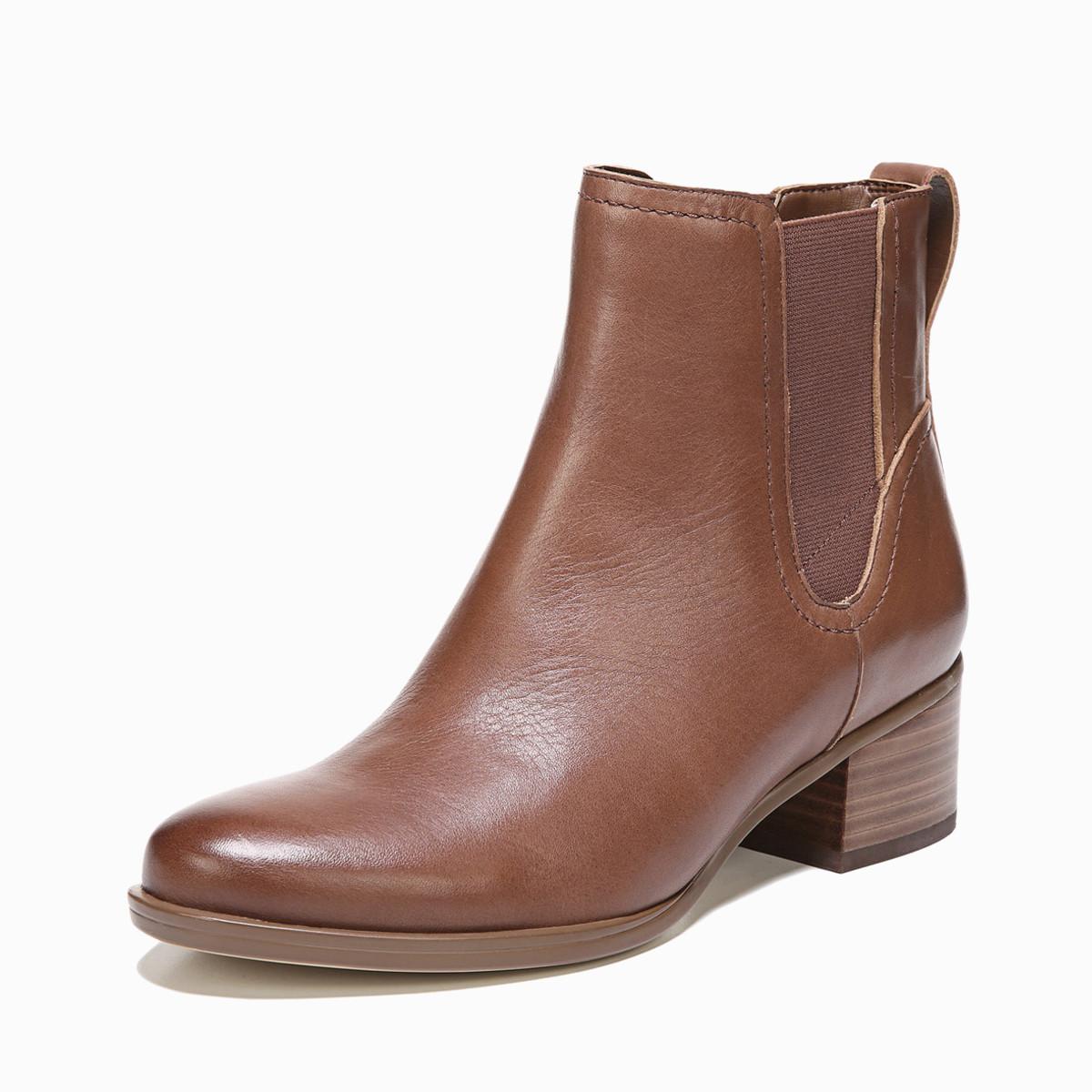 娜然naturalizer娜然冬欧美多变切尔西深口圆头套脚短靴NLI75C05A20102
