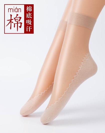 (6双装)高端脚底加棉短丝袜 棉底夏季防臭