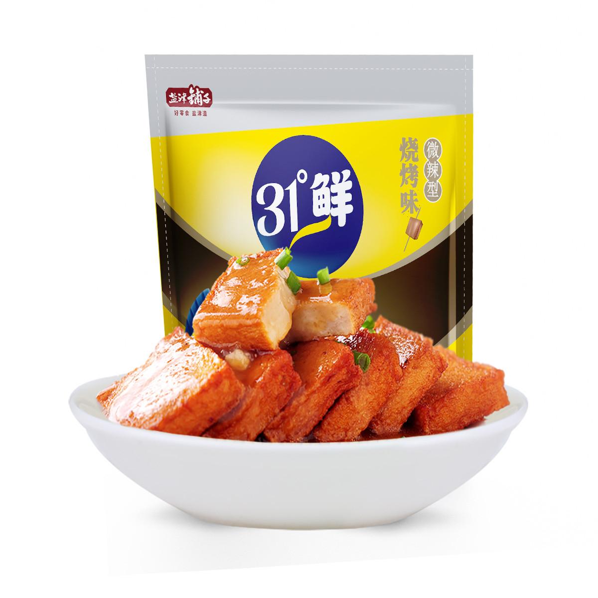 盐津铺子盐津铺子鱼豆腐烧烤味豆制品网红零食独立小包装豆腐干6926104937803