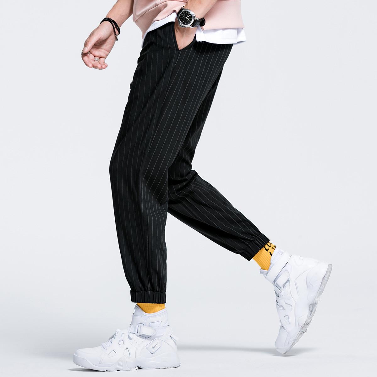 KM KILO KMMETERS2019秋季新品条纹小脚裤时尚休闲简约舒适男士休闲裤K648J23077149