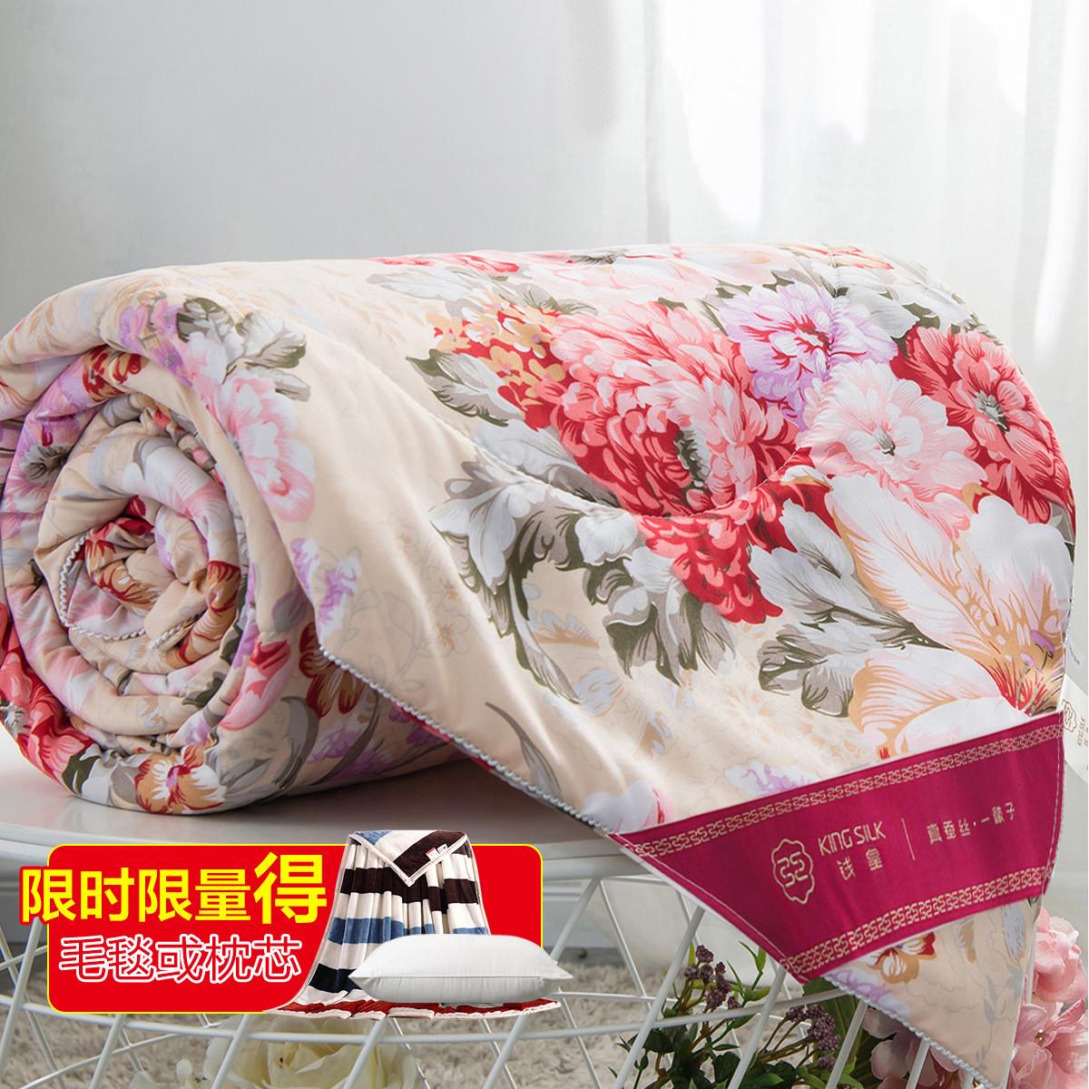 钱皇热卖秋冬被重6.5斤加厚100%蚕丝被柔软保暖被子被芯wzqh-5
