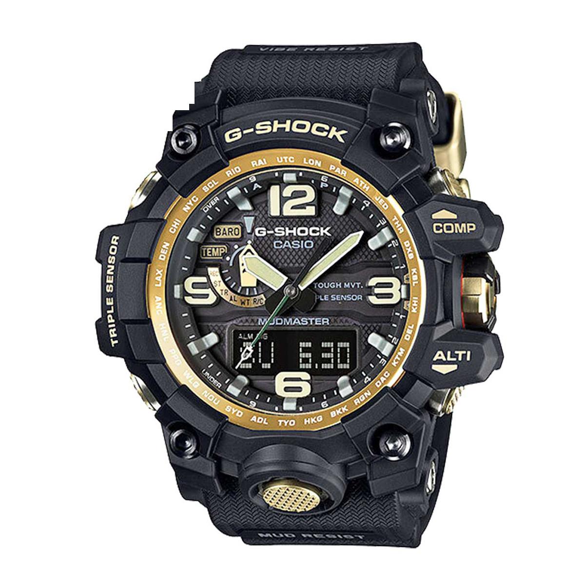 卡西欧【正品授权】卡西欧手表G-SHOCK系列太阳能运动男士手表GWG-1000GB-1APR-L