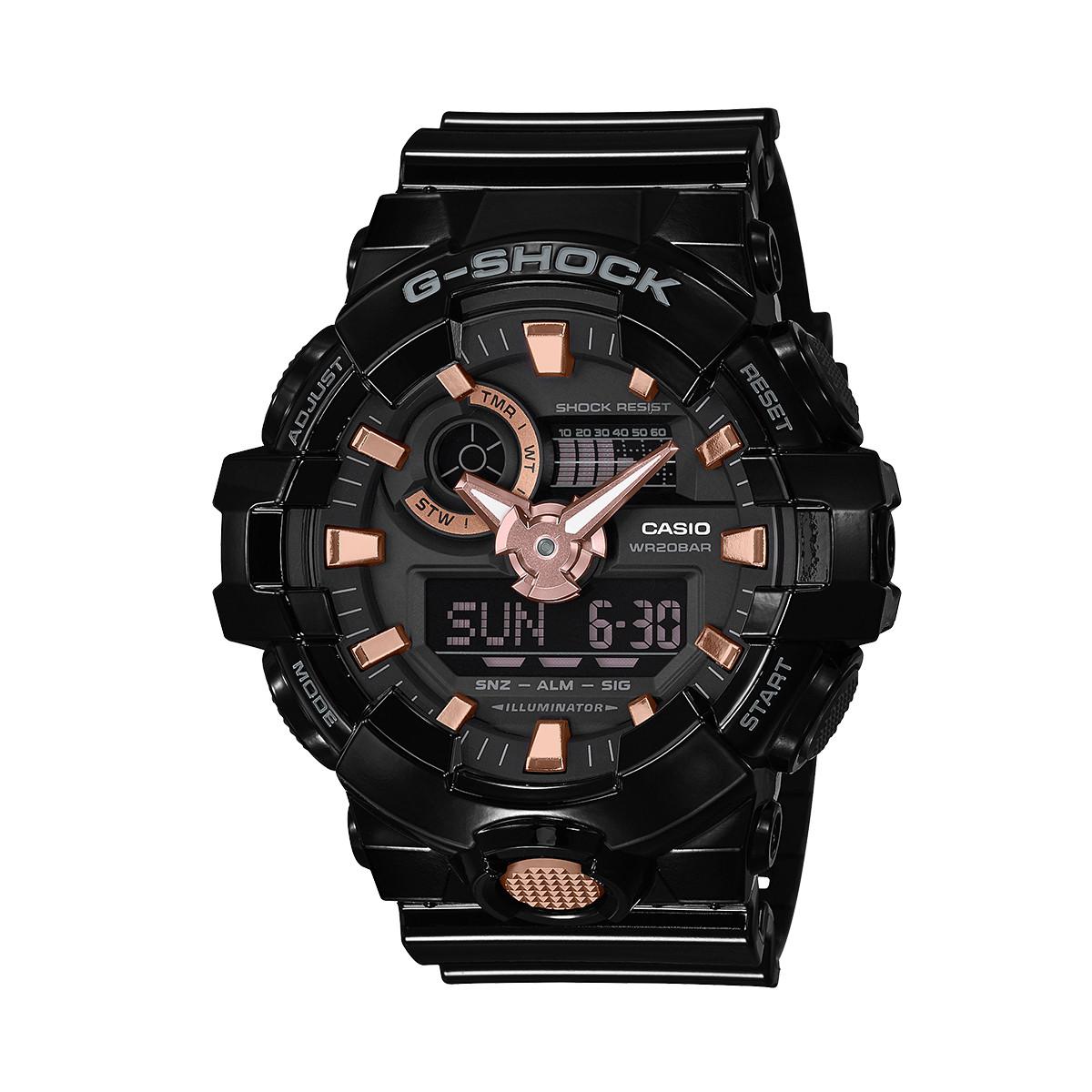 卡西欧【正品授权】卡西欧手表G-SHOCK系列多功能防水运动男士手表GA-710GBX-1A4PR