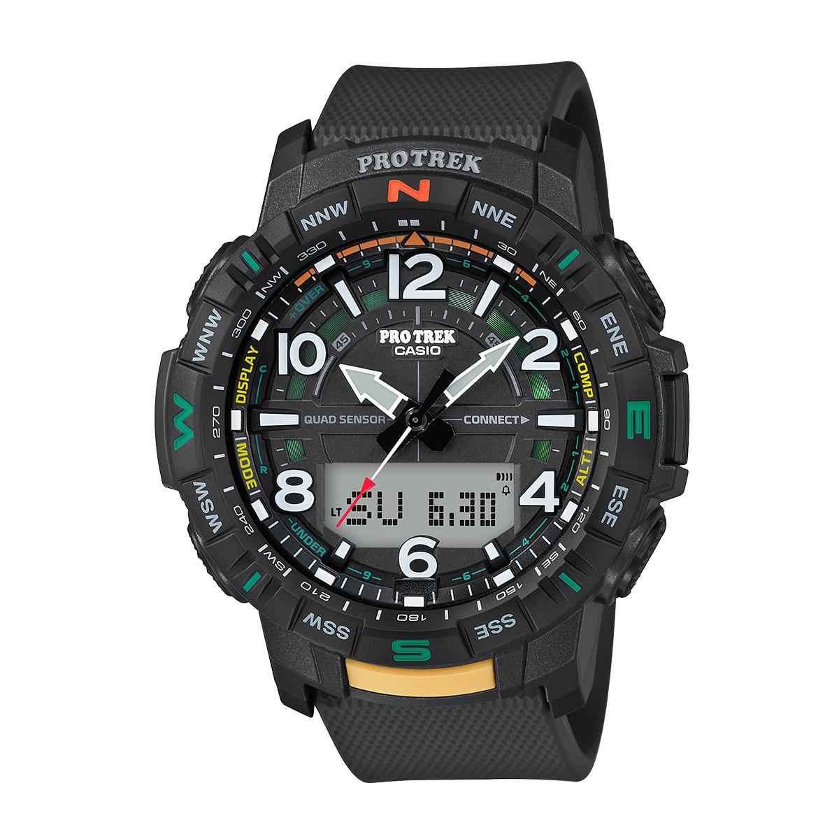 卡西欧【正品授权】卡西欧手表Protrek户外多功能运动男士手表PRT-B50-1PR-L