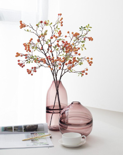 欧式美式透明玻璃花瓶 客厅餐桌水培插花装饰摆件 水影