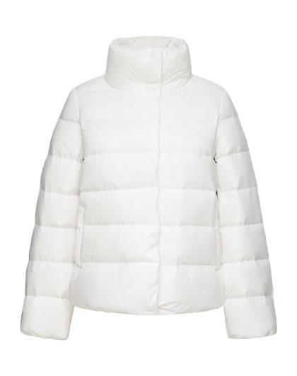 森马2018冬装新款韩版个性口袋立领短款外套女士轻薄羽绒服女图片