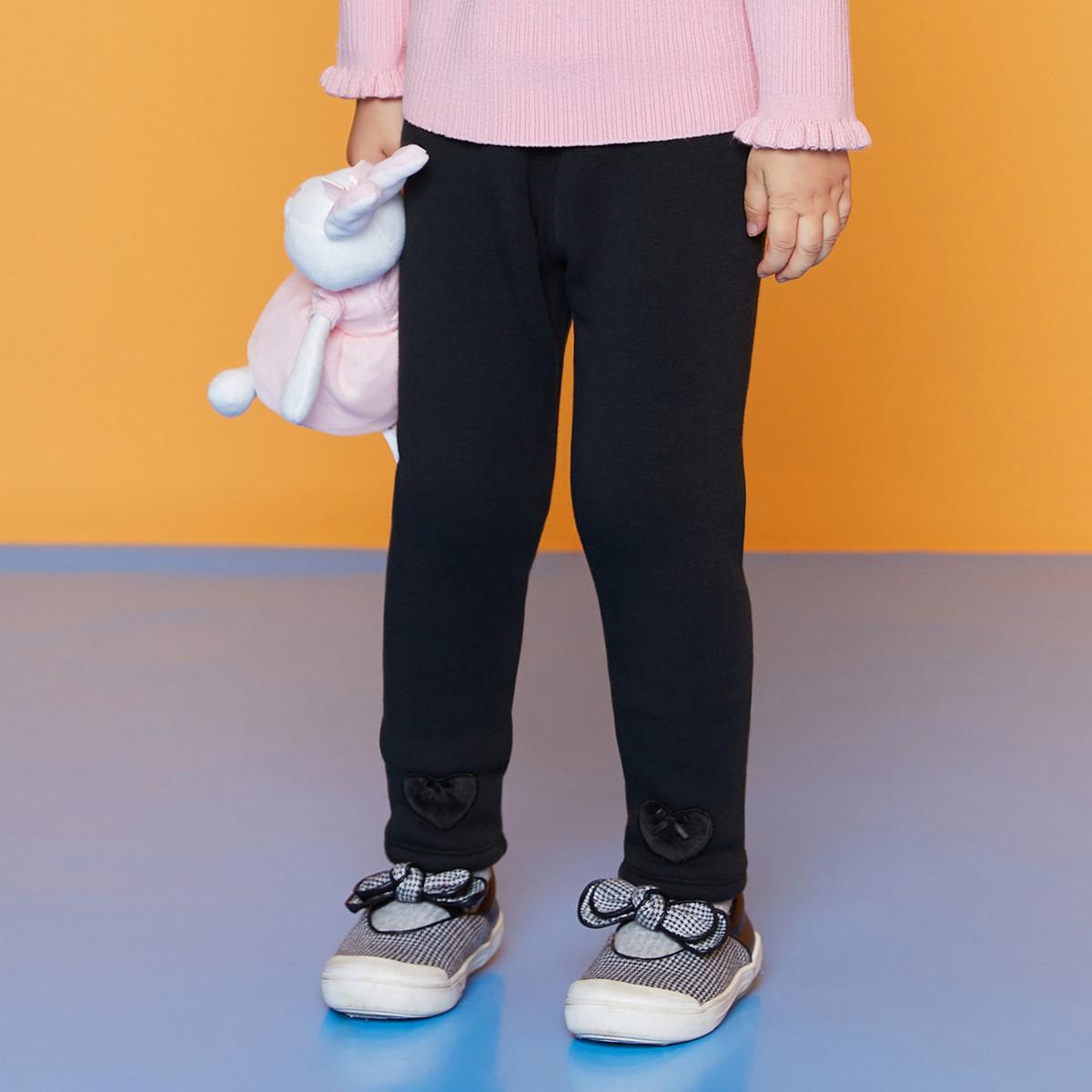 安奈儿安奈儿童装女童加绒加厚打底裤2019冬装新款儿童长裤女TG946429K003
