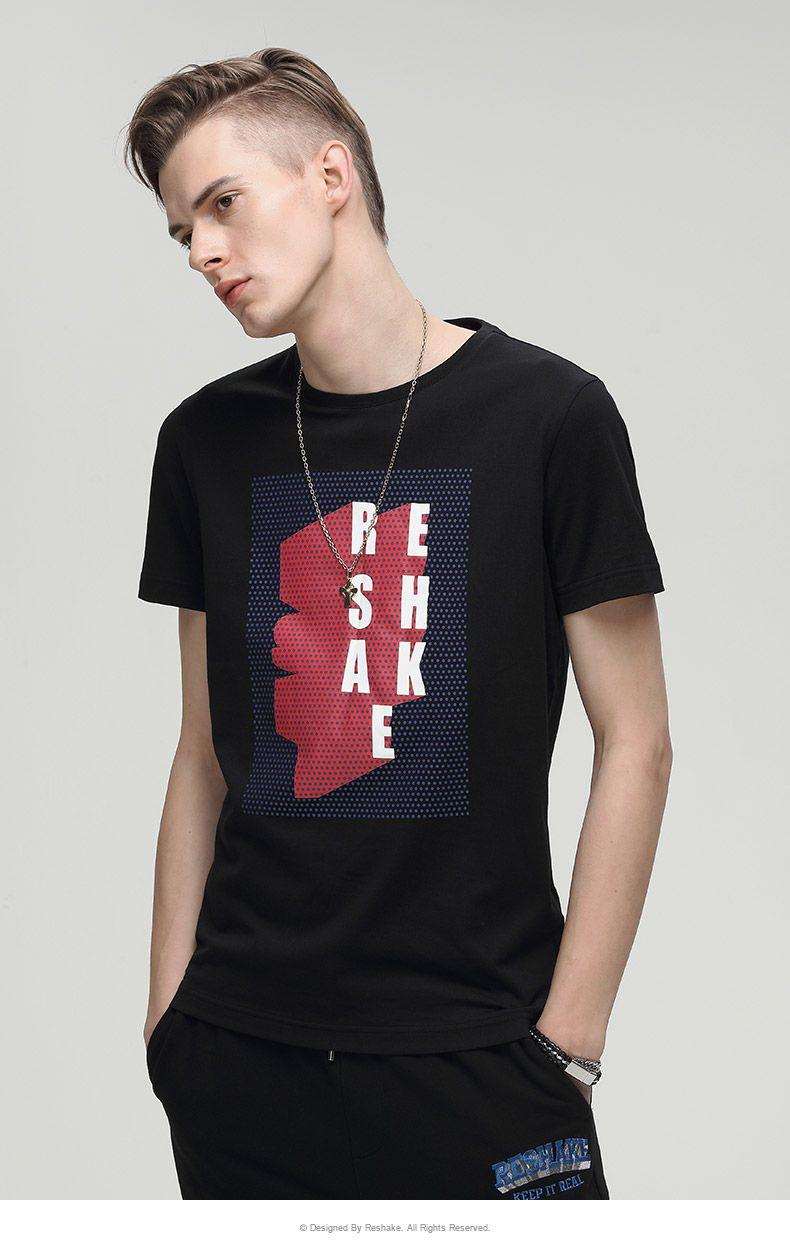 时尚潮流短袖t恤311纯黑