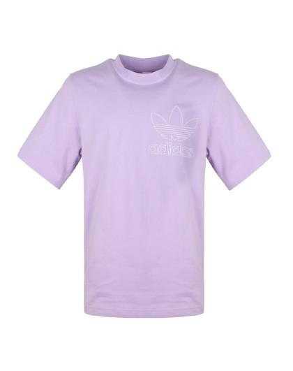 三叶草 刺绣logo 男款针织t恤图片